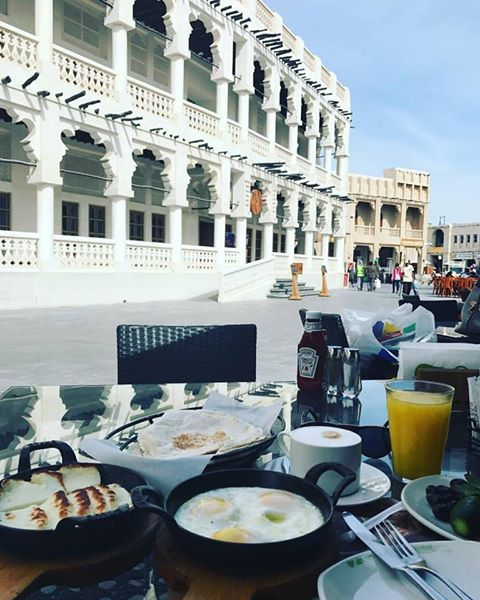 PIETER PETROS || Breakfast in Doha be like... 😍😍 What a wonderful place. ❤️The manager, Shady, is an amazing man! #inspired