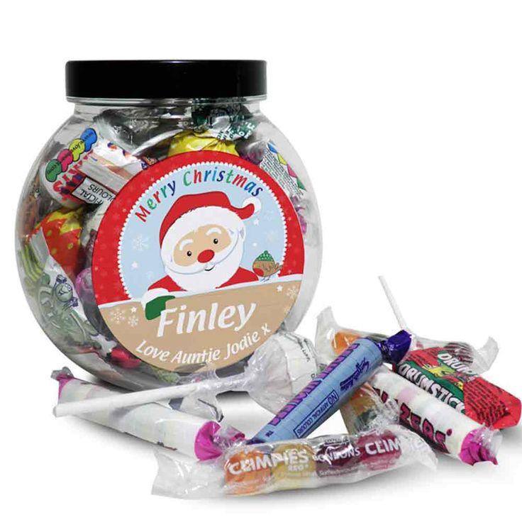 Personalised Santa Christmas Sweet Jar