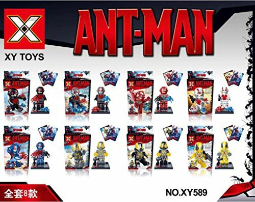 NW 8Pcs/lot Super Heroes Avengers ANT MAN ANT-MAN Minifigures Building Blocks Sets Figures Bricks Mo @ niftywarehouse.com #NiftyWarehouse #Antman #Ant-man #Movie #Marvel #Comics #ComicBooks #Avengers #TheAvengers
