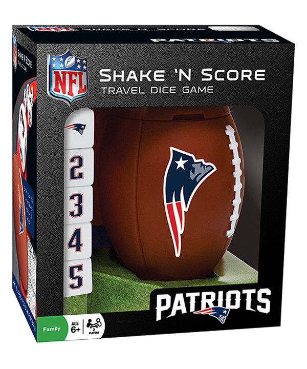 New England Patriots Shake 'n' Score Dice Game on #zulily today!  Looks like a Fun Yahtzee type game with the best football team!
