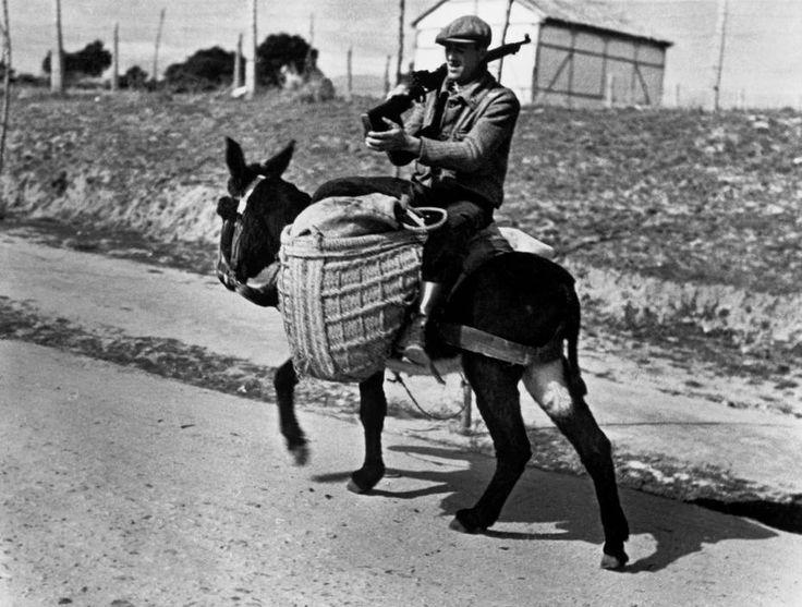 Near Madrid, Spain. A Republican soldier. By Robert Capa, (November 1936)