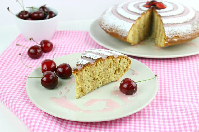 Cherry Vanilla Cake!!!!  Fresh Cherries and Vanilla on a delicious cake to enjoy with your tea or coffee or even with Ice cream!   #food #recipe #cherries #freshfruit #fruit #delicious #cake