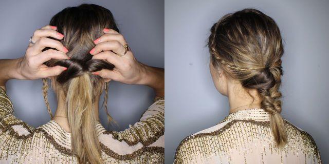 Triple twist ponytail