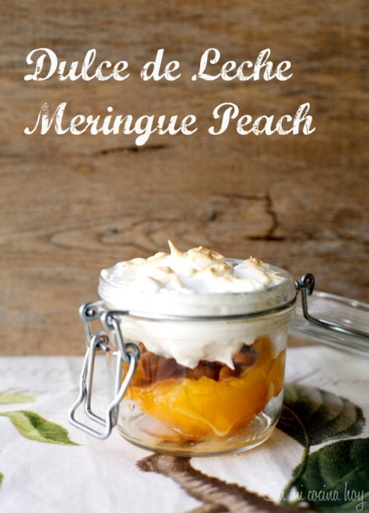 Dulce de Leche Meringue Peach