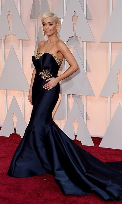 All the red carpet looks from the 2015 Oscars: Rita Ora in Marchesa. Photo: Getty