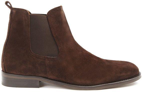 Brown Suede Chelsea Boots by Menlook Label. Buy for $117 from Menlook