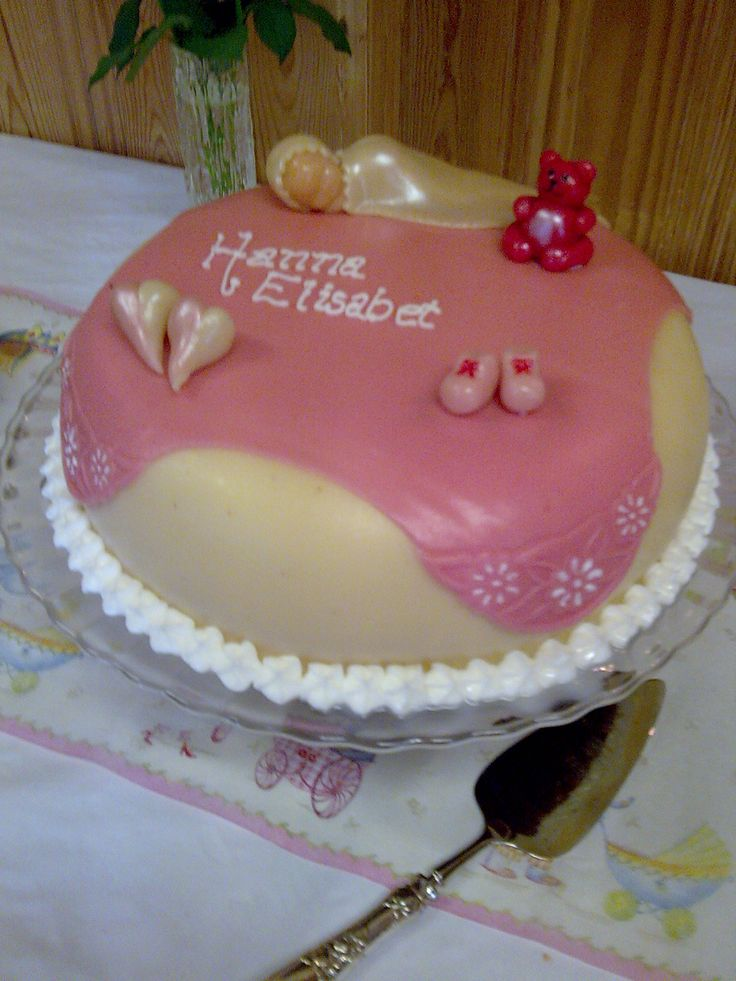 Marsipan cake for my youngest daughter