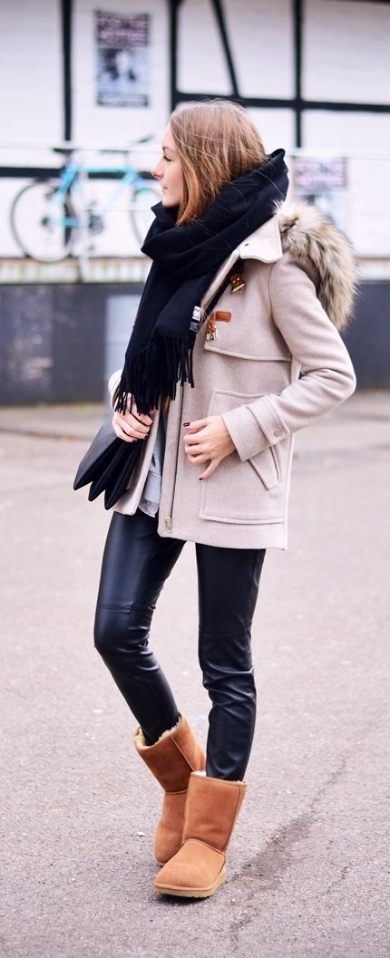 Camel ugg boots styling