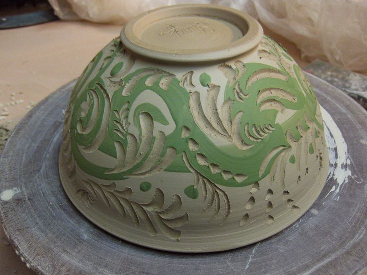 Gary jackson slipped carved bowl ceramic techniques