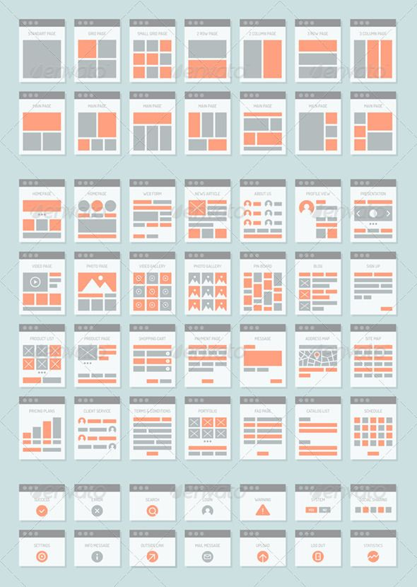 Website Sitemaps Flat Icons Set — Vector EPS #sketching #user • Available here → https://graphicriver.net/item/website-sitemaps-flat-icons-set/6780250?ref=pxcr