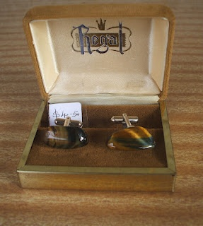 1970's Tiger Eye Cufflinks.