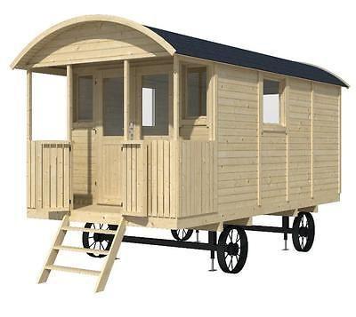 Beautiful Bauwagen L wenzahn x cm Gartenhaus mm Holzhaus Anh nger Blockhaus kaufen bei Hood de