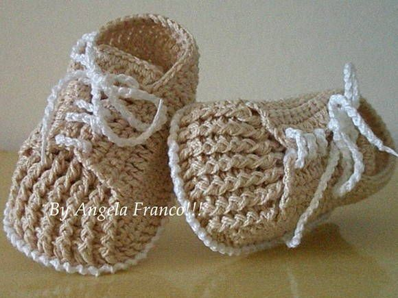Tenizinho em Croche Bebe João! Em linha 100% algodão! Tamanhos:0 a 3 meses......3 a 6 meses e 6 a 9 meses! Detalhes e cor a critério do cliente! R$ 25,00