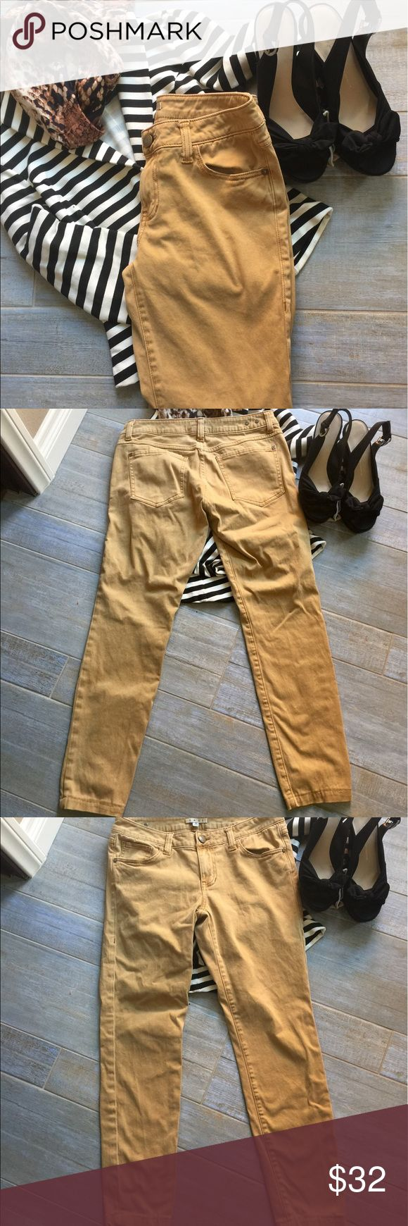 CAbi gold jeans Trending now, gold jeans CAbi #502. I love how they go with everything! True to size 6. CAbi Jeans