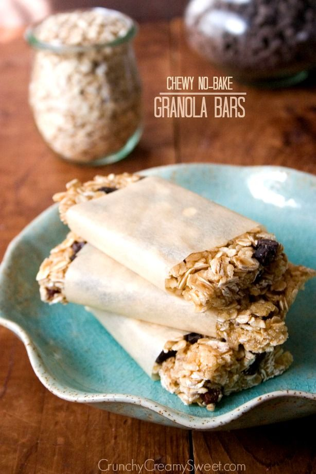 Chewy No-Bake Granola Bars - easy and so much better then the store ...