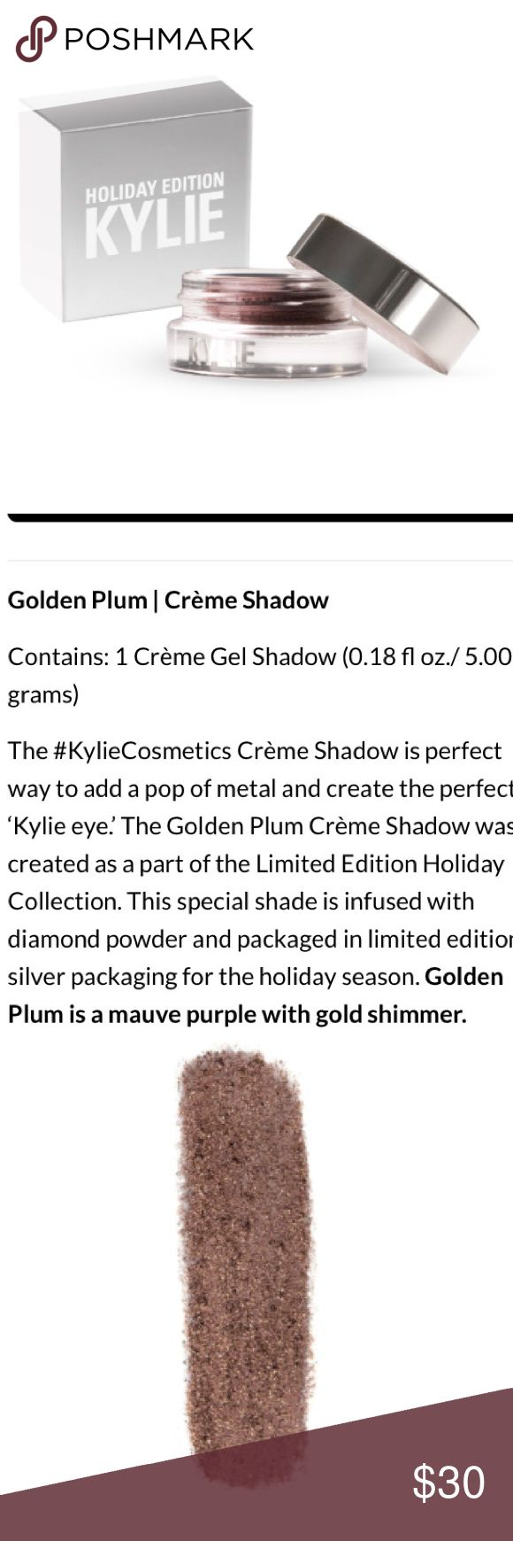 Individual ornament boxes - Nib Authenticltd Ed Kylie Golden Plum Shadow Authenticltd Ed Brand New