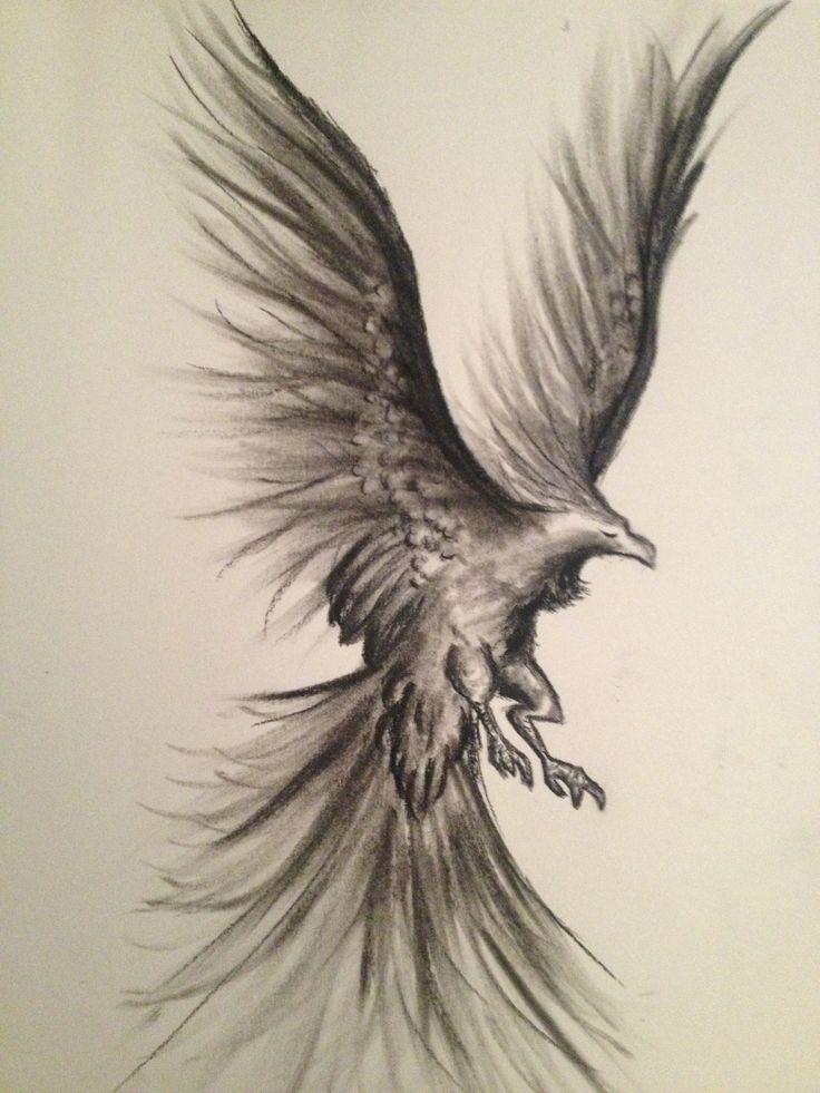 Phoenix charcoal art