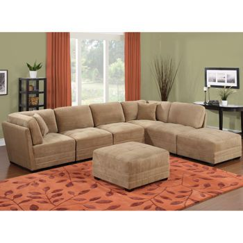 Best Canby Fabric 7 Piece Modular Sectional 999 Costco By 640 x 480
