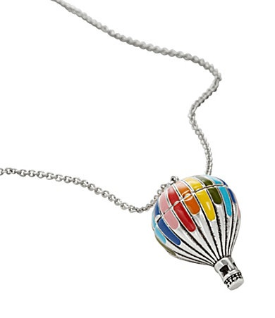 Hot Air Balloon necklace: Balloon Pendants, Fossil Hot, Balloon Necklaces, Fossil Balloon, Gifts Ideas, Fossil Long, Air Ballon, Hot Air Balloons, Ballon Pendants