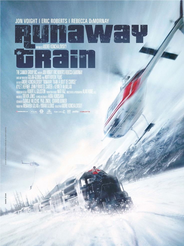 RUNAWAY TRAIN - Jon Voight - Eric Roberts - Rebecca DeMournay - MGM - Movie Poster.