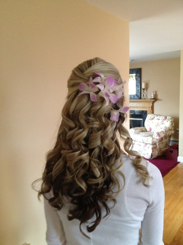 my hair for prom: Prom Hairs, Pretty Hairs, Hairs Idea, Weddings Hairs, Hairs Styles, Girls Hairstyles, Curly Hairs, Hairs Color, Bridesmaid Hairs