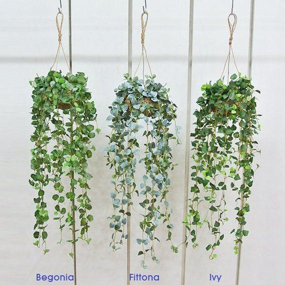 Artificial Ivy Hanging Basket Plants For Home Decoration