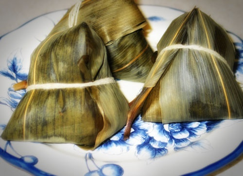 Bacang, made from rice, delicious, this from china but famous in indonesian too