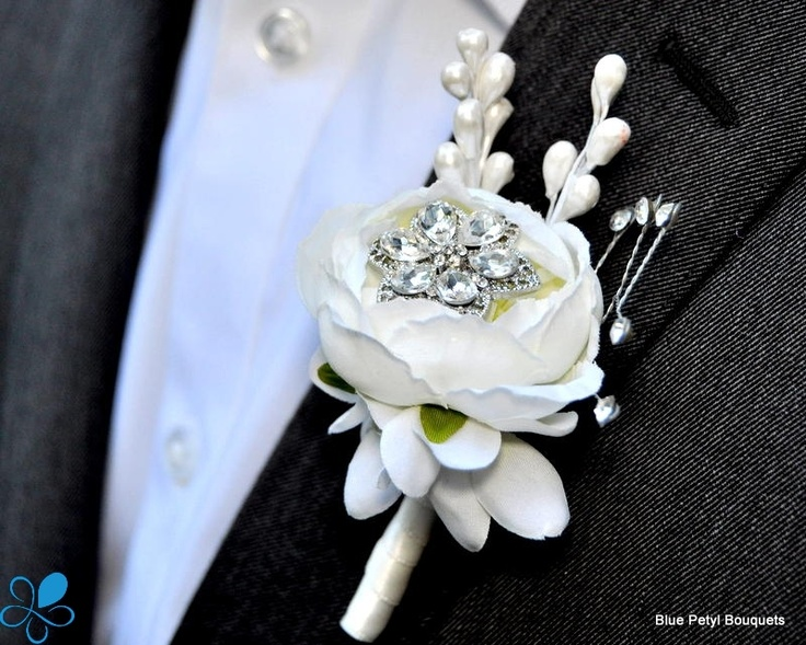 Jeweled Floret #Brooch #Boutonniere