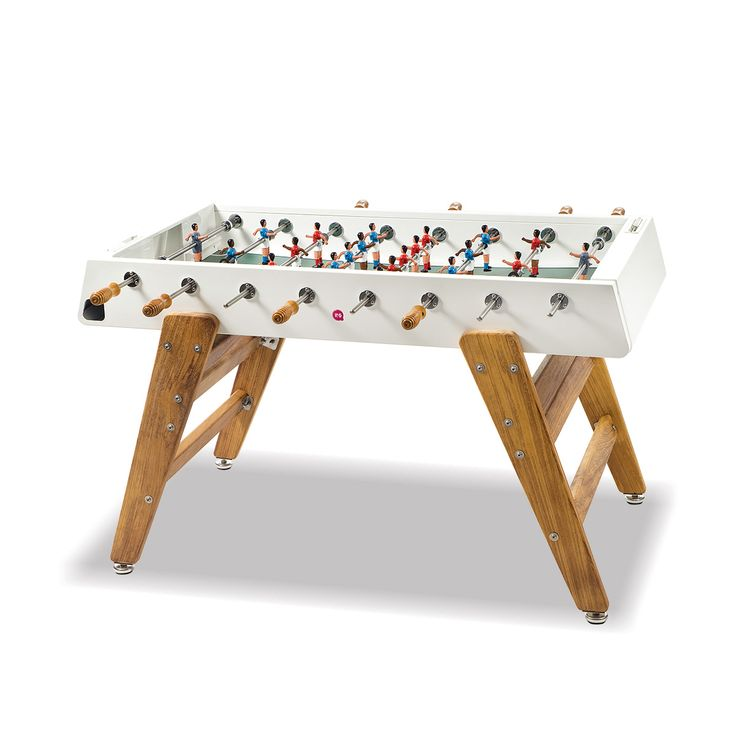 Boy's Basement:  Wood Foosball Table in White | Thos. Baker