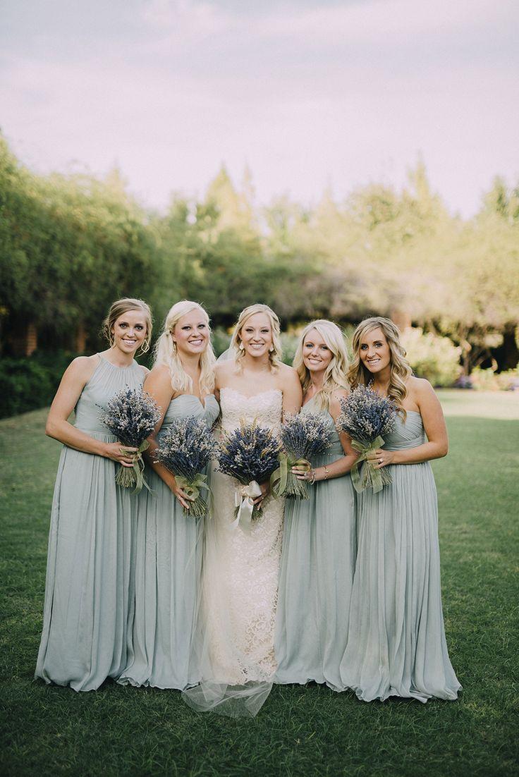 "real wedding: aubrey + calvin | ""scout"" wedding dress by modern trousseau | pastoral elegance | steve stanton photography | clark gardens | texas wedding | lavender bouquet | wheat bouquet | anna bé bride |"