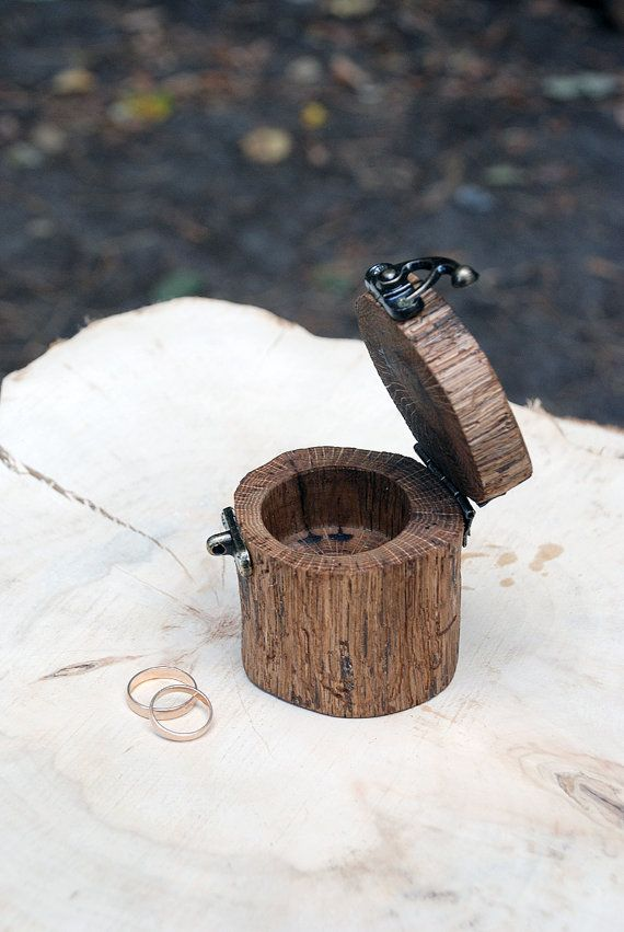 Ring holder Wood Ring Box Rustic Wedding Rustic by Ecowoodstyle