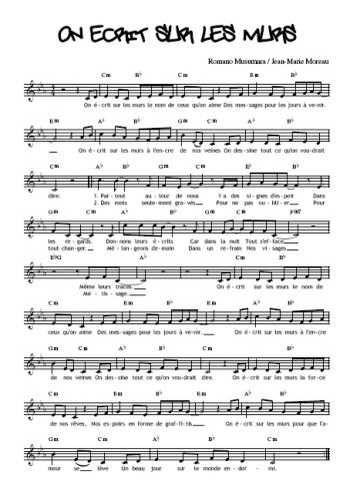 Téléchargez la partition gratuite de la chanson On écrit sur les murs, Interprété par Demis Roussos et les Kids United avec accords de guitare. Romano Musumara / Jean-Marie Moreau