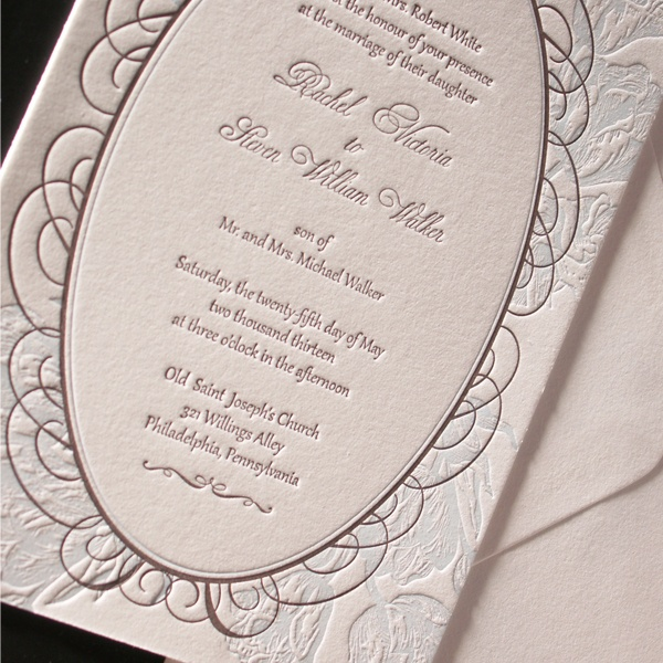Tulipano Letterpress Wedding Invitation Suite By Plum Blossom Press Customize Yours With Paper Passionista