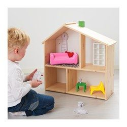 "IKEA - HUSET, Doll furniture, living room, , Doll furniture that is an exact replica of popular IKEA classics, in miniature.Your child can decorate ""rooms"" using their own imagination, because the drawings on the package can be cut out, colored and used as design details."