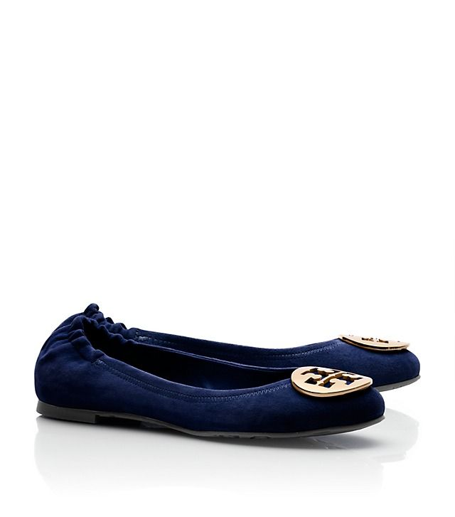 Tory Burch Suede Reva Ballet Flat Tory Burch Haircalf Eddie Ballet Flat  Theses blue sued flats are at the top of the shopping list