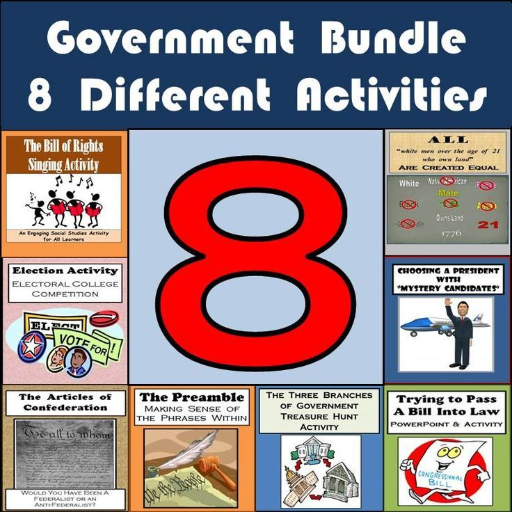 I've used every one of these items when teaching about the U.S. government in my 7th and 8th grade middle school Social Studies classes.  From getting students to try and pass a bill they create by getting 51% of the class to vote in favor of their bill to having them sing a song with a group about one of the amendments in the Bill of Rights to having them play an election game with a partner to understand how the Electoral College works -- they've all worked great for me so I'm sharing them…