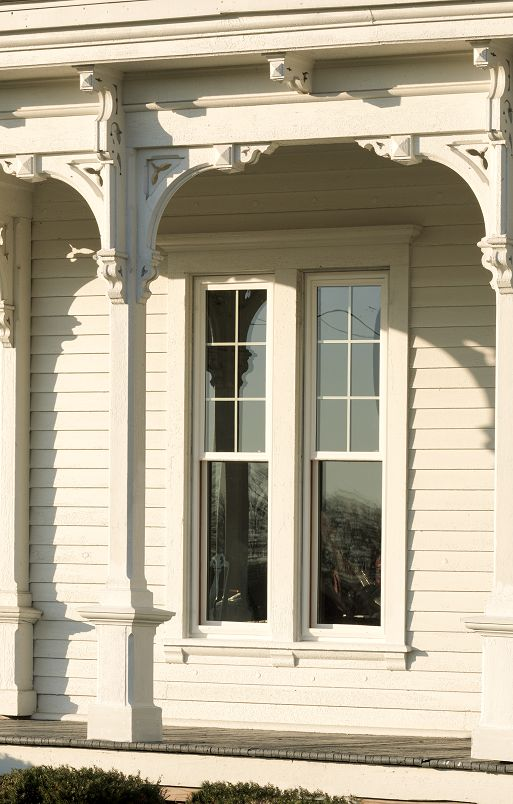 JELD-WEN Premium vinyl double-hung windows bring beauty and functionality  to historic architecture