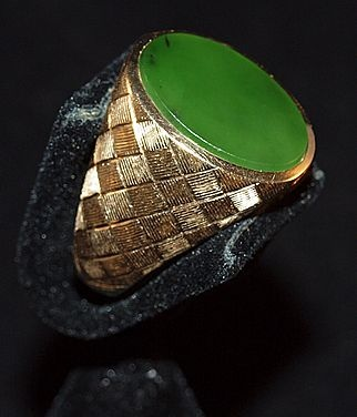 179 best jade in all its glory images on pinterest gemstones mens 14k etched gold ring with imperial jade cabouchon aloadofball Image collections