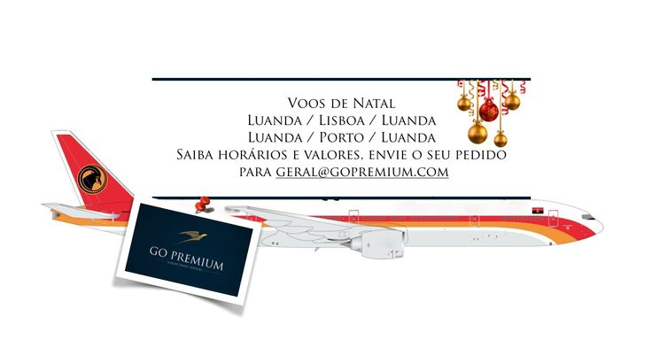 Não perca esta oportunidade! Vá a casa passar o Natal! Aguardamos os vossos pedidos para geral@gopremium.com #portugal #angola #natal #topdestinos #viajar #regresso #luanda #lisboa #porto #taag #oferta #fimdeano #reveillon