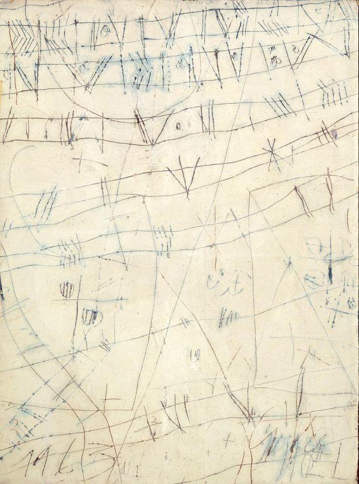 Georges Noel - Écritoire aux signes libres en blanc N°2