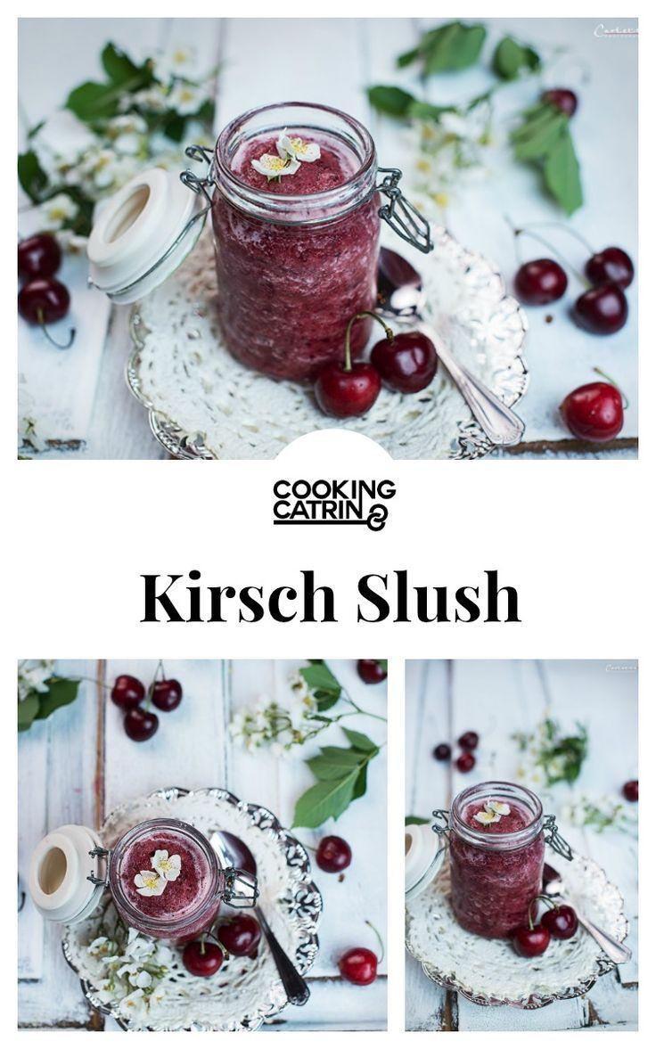 Kirsch Slush, Kirsch Drink, Kirsch Getränk, Slush, Sommer Getränk, Summer Drinks, Summer Drink, Cherry Slush, Cherry drink, cherry summer drink, fresh summer drink