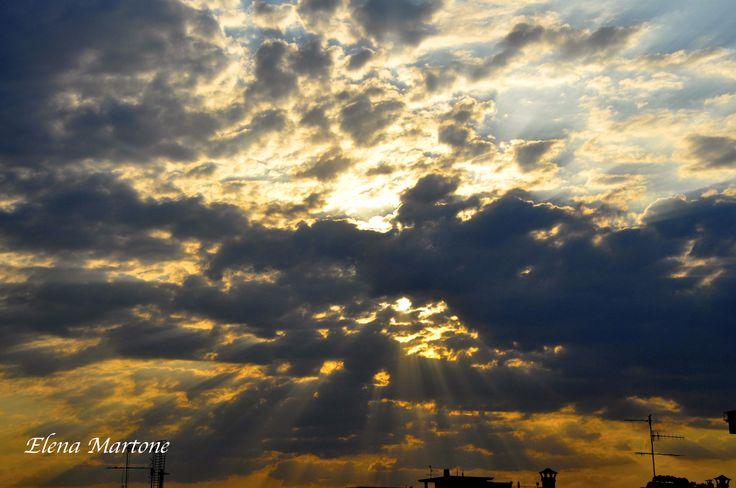 Nuvole....gioco di luci ed ombre