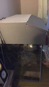 Tropical fish tank Aquarium 60L With Lamp and cover | eBay