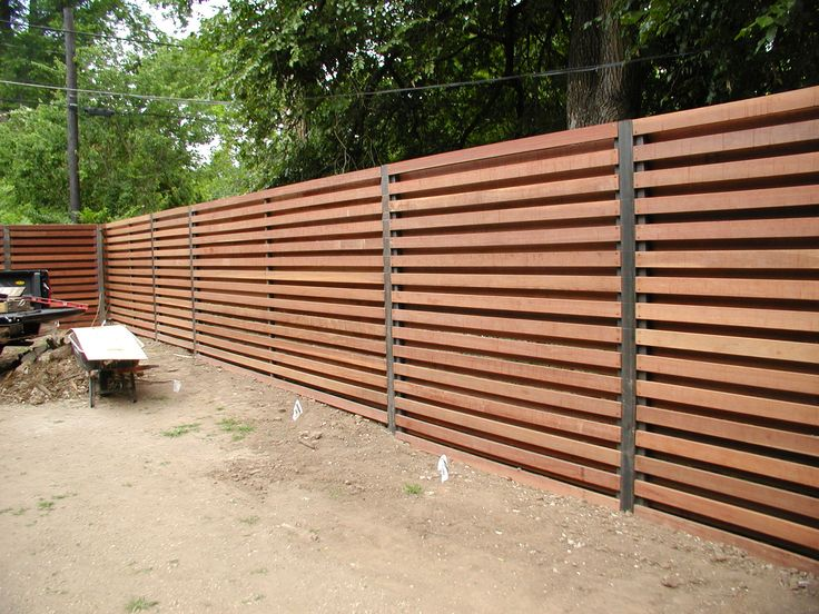 horizontal shadowbox fence - Google Search