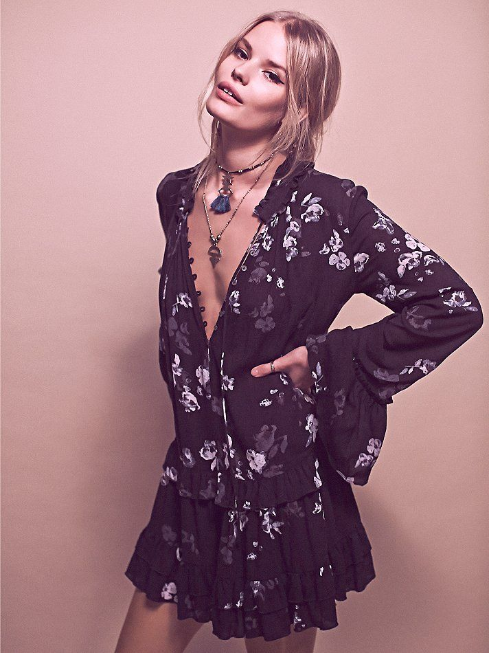 Free People Clover Field Printed Tunic at Free People Clothing Boutique