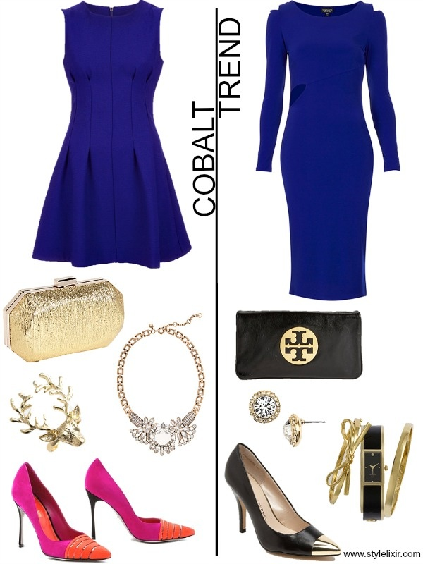Cobalt Blue Dress And I Love The Accessories With Them