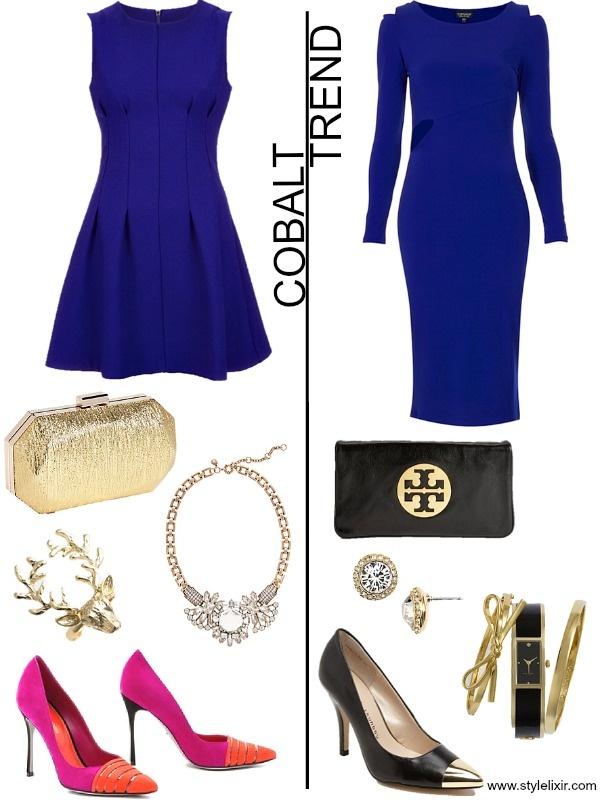 Accessorize a blue dress red