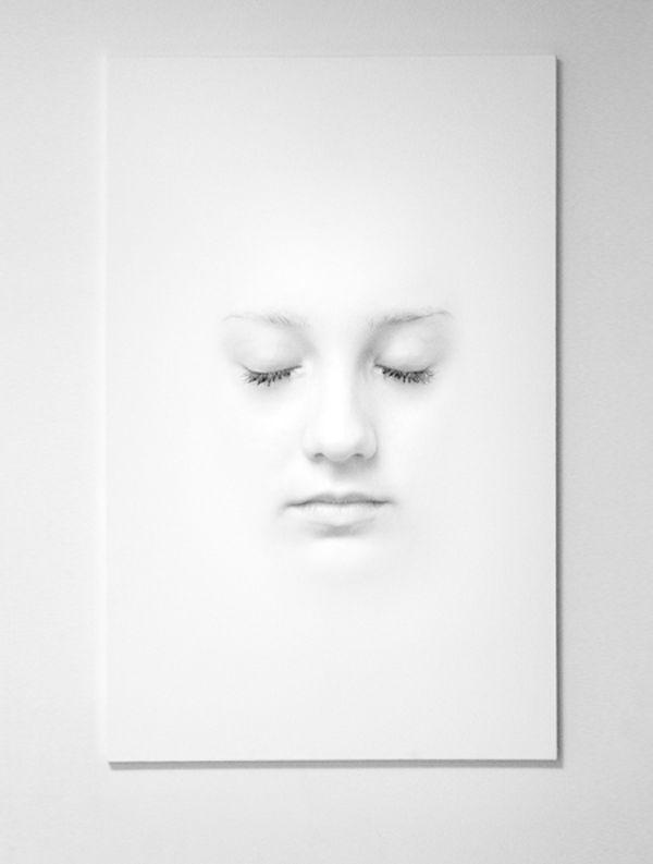 white on #white face