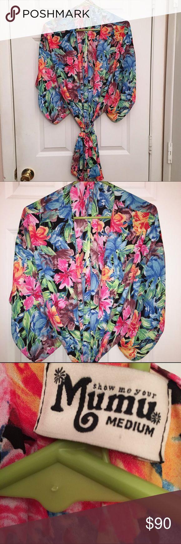 Show Me Your Mumu Islas de Flores Texas kimono Worn once. Beautiful floral print. Perfect as a swim coverup 👌 ✖️NO TRADES ✖️PRICE FIRM Show Me Your MuMu Swim Coverups