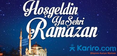 #Ramazan geldi, hoş geldi...#Bilişim alanına özel Türkiye'nin tek #kariyer sitesi olarak iyi ramazanlar dileriz...